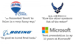 testimonials for business speaker brad montgomery